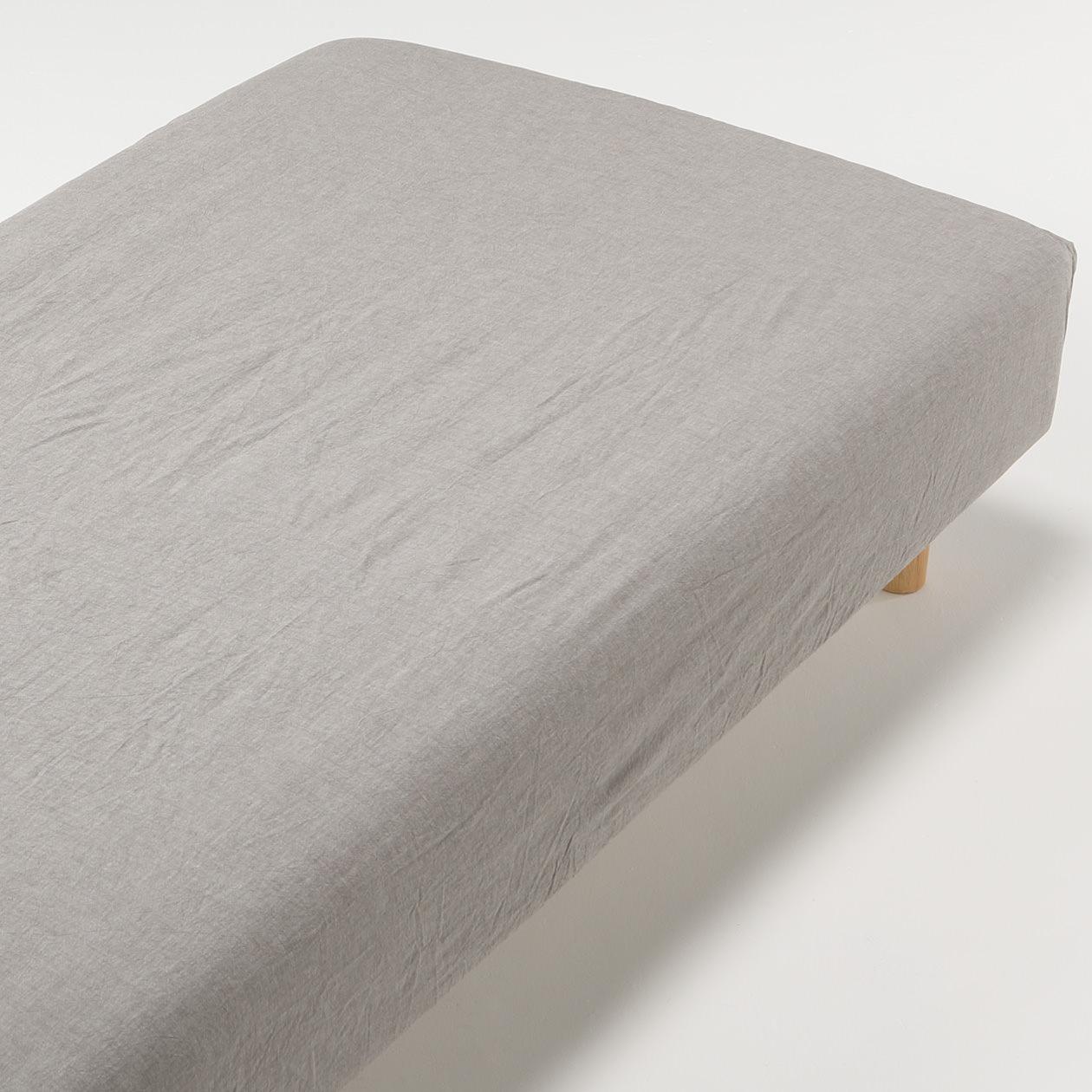 無印良品の寝具、ボックスシーツ3種類を比較_オーガニックコットン洗いざらしボックスシーツ