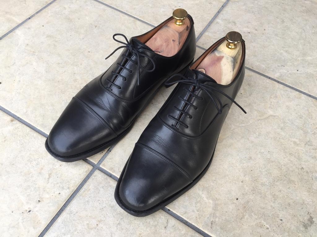 スコッチグレインの革靴
