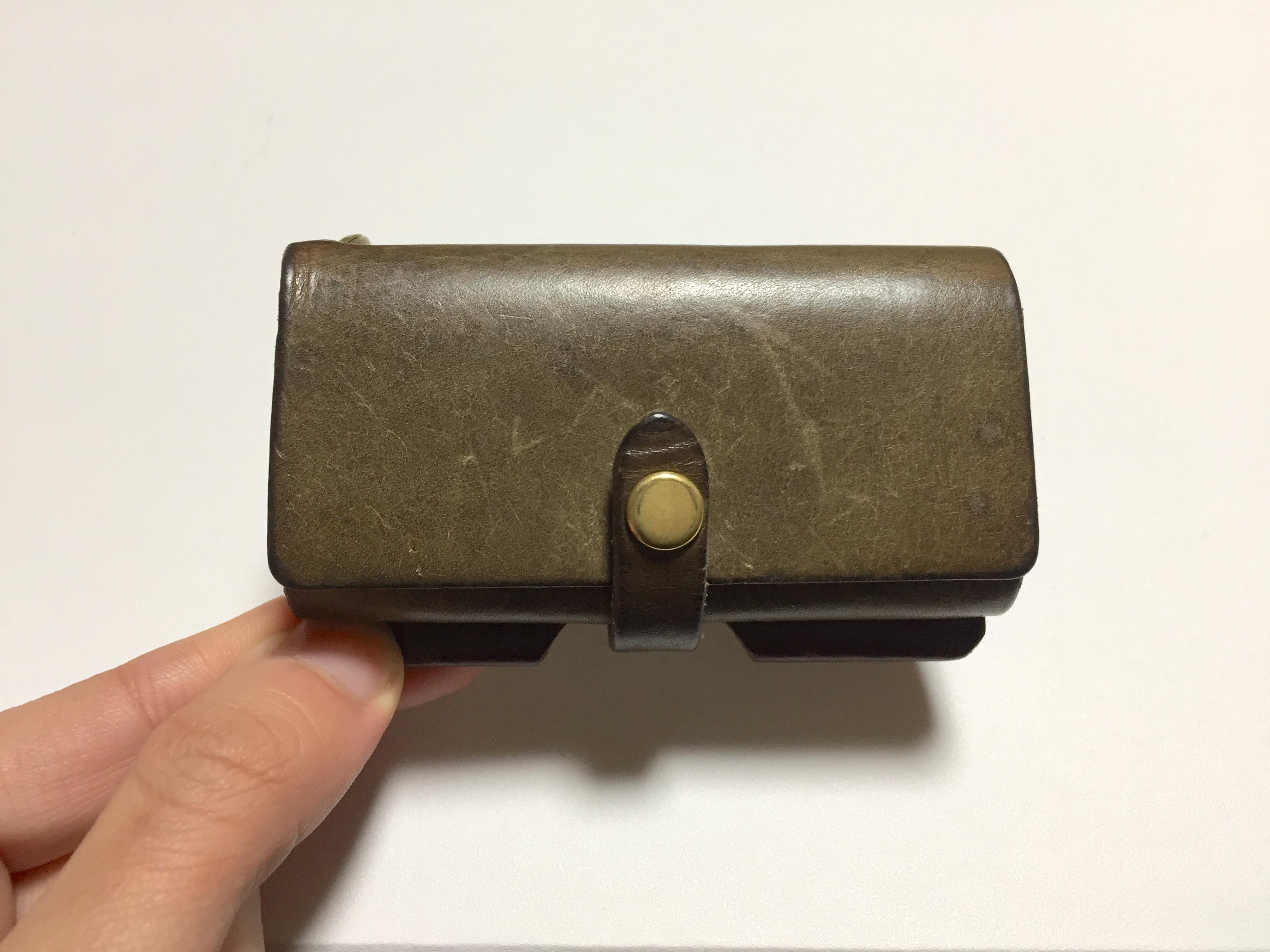 safujiのキー付きミニ財布の経年変化(6ヶ月)