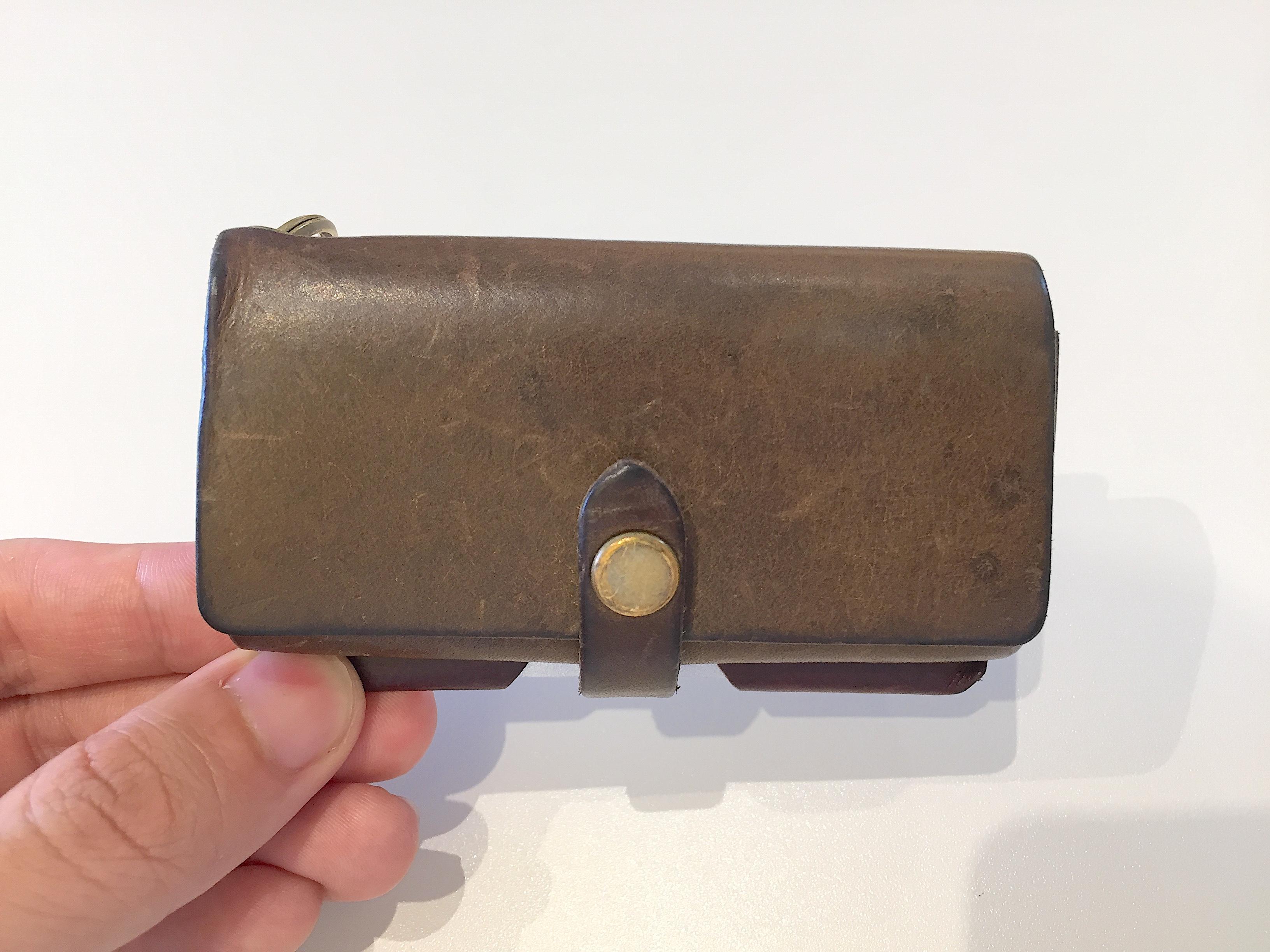 safujiのキー付きミニ財布の経年変化(9ヶ月)