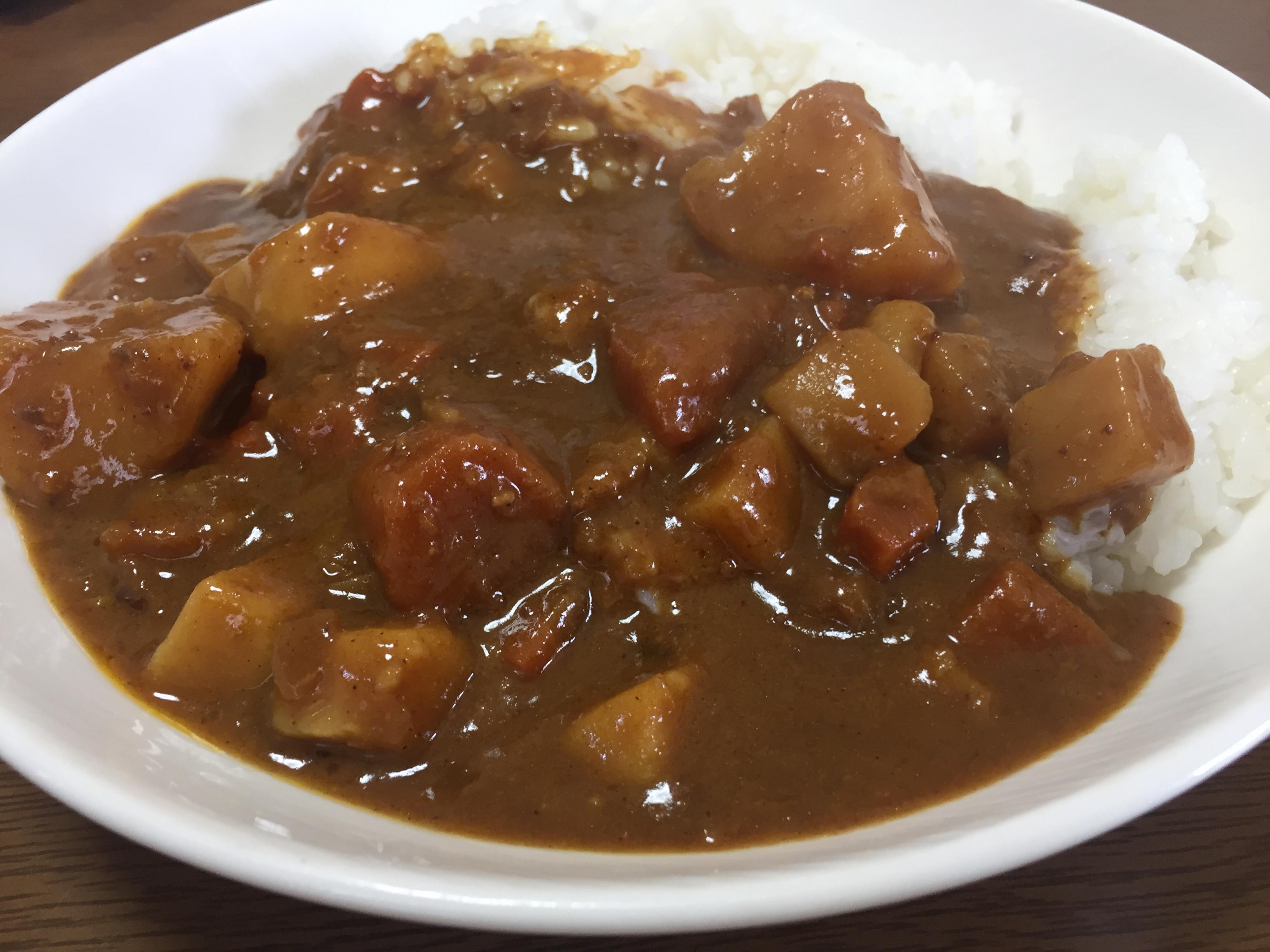 無印良品のごろごろ野菜と豚ひき肉の大盛りカレー
