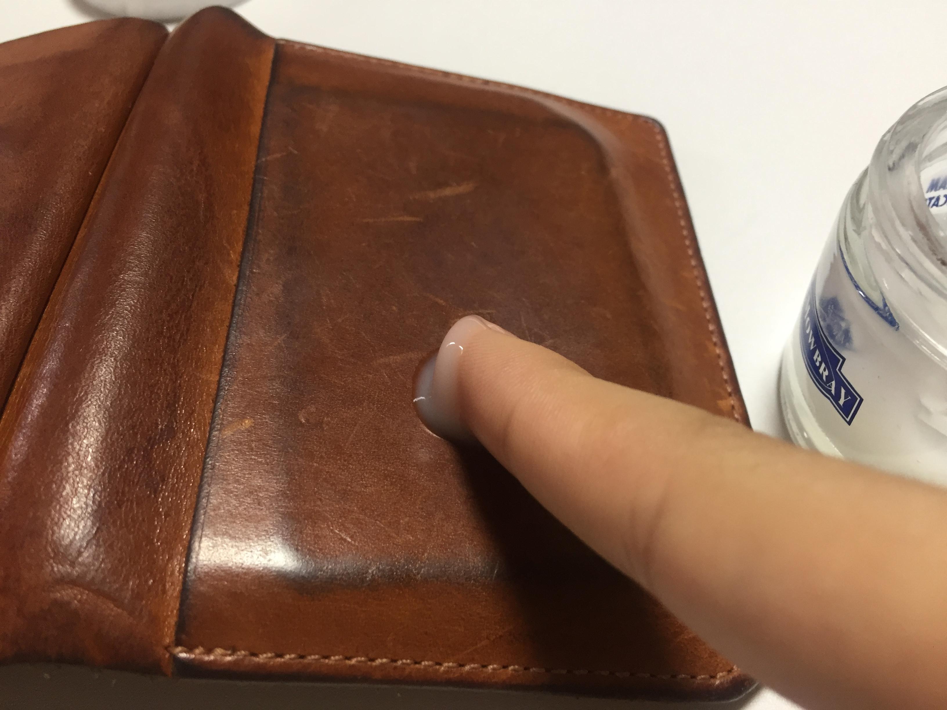 ヌメ革財布のお手入れ