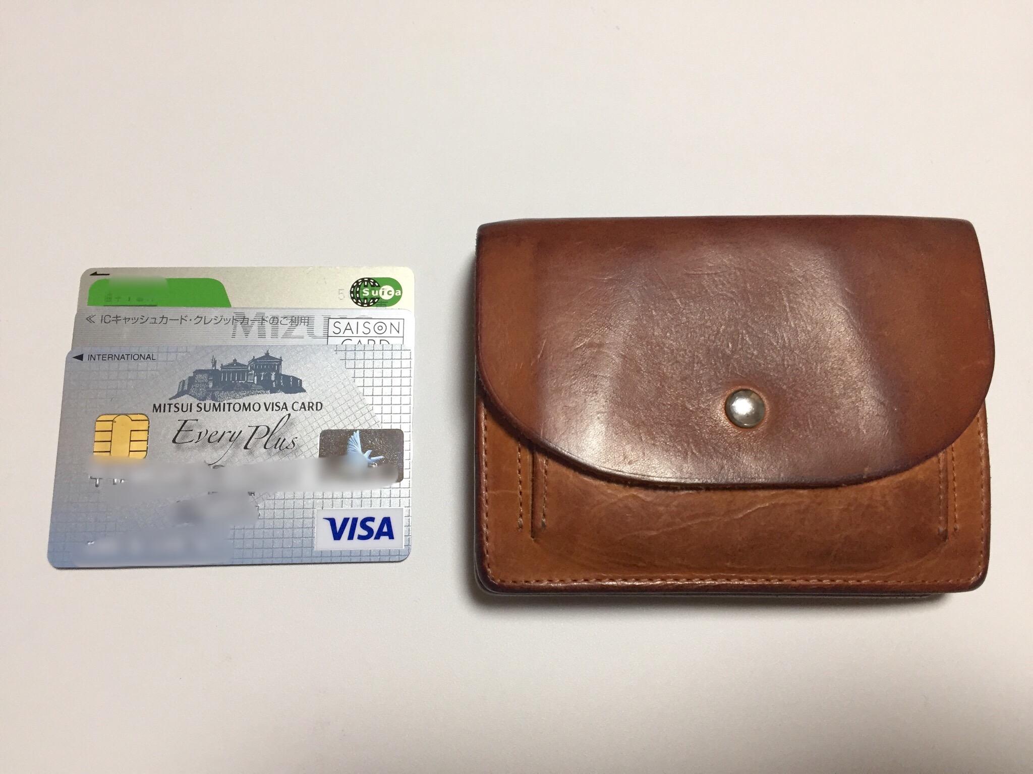 ミニマリストの財布②Honor gatheringの二つ折り財布の中身