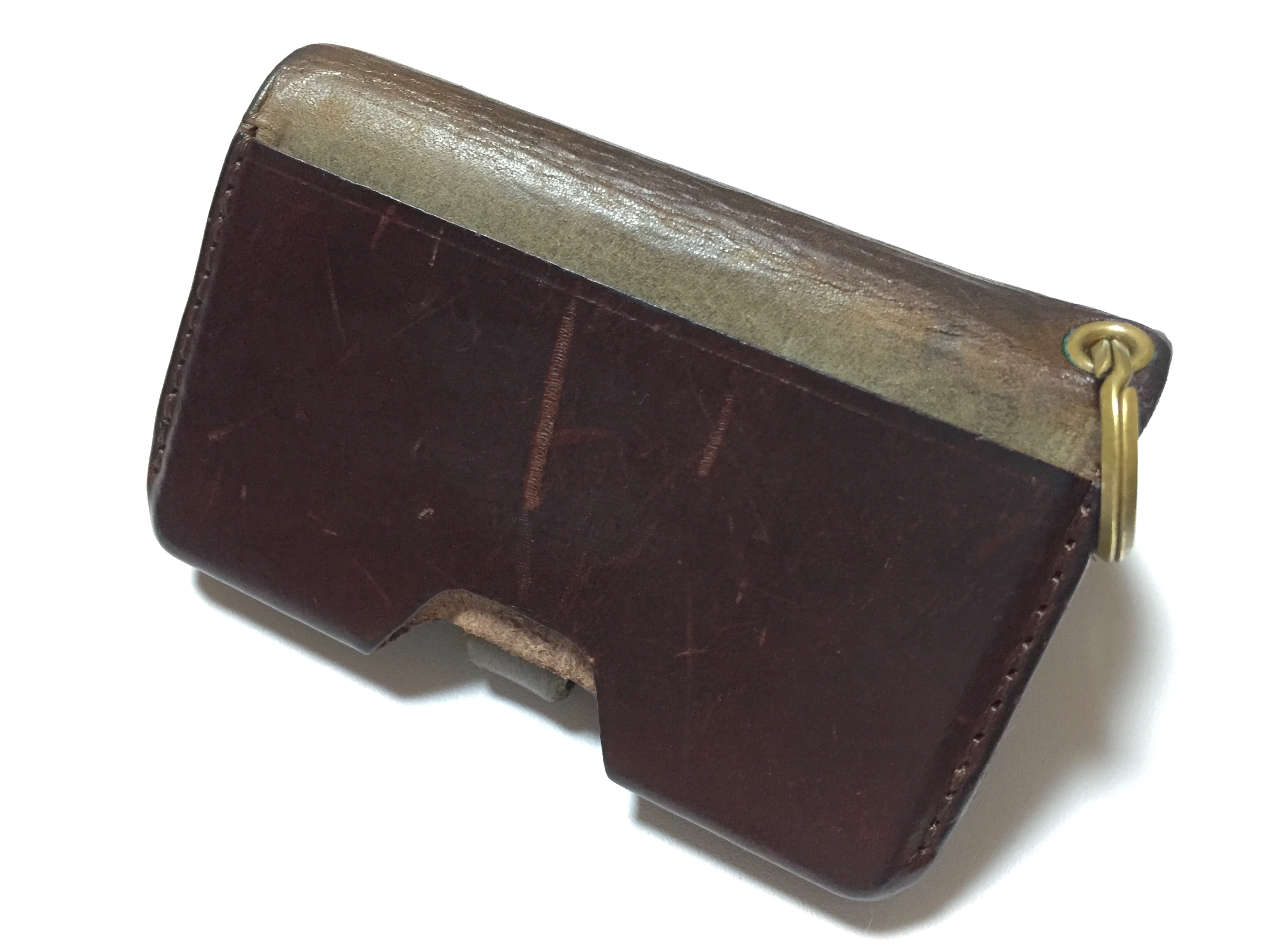 ブッテーロレザーのエイジング(Safujiの財布)