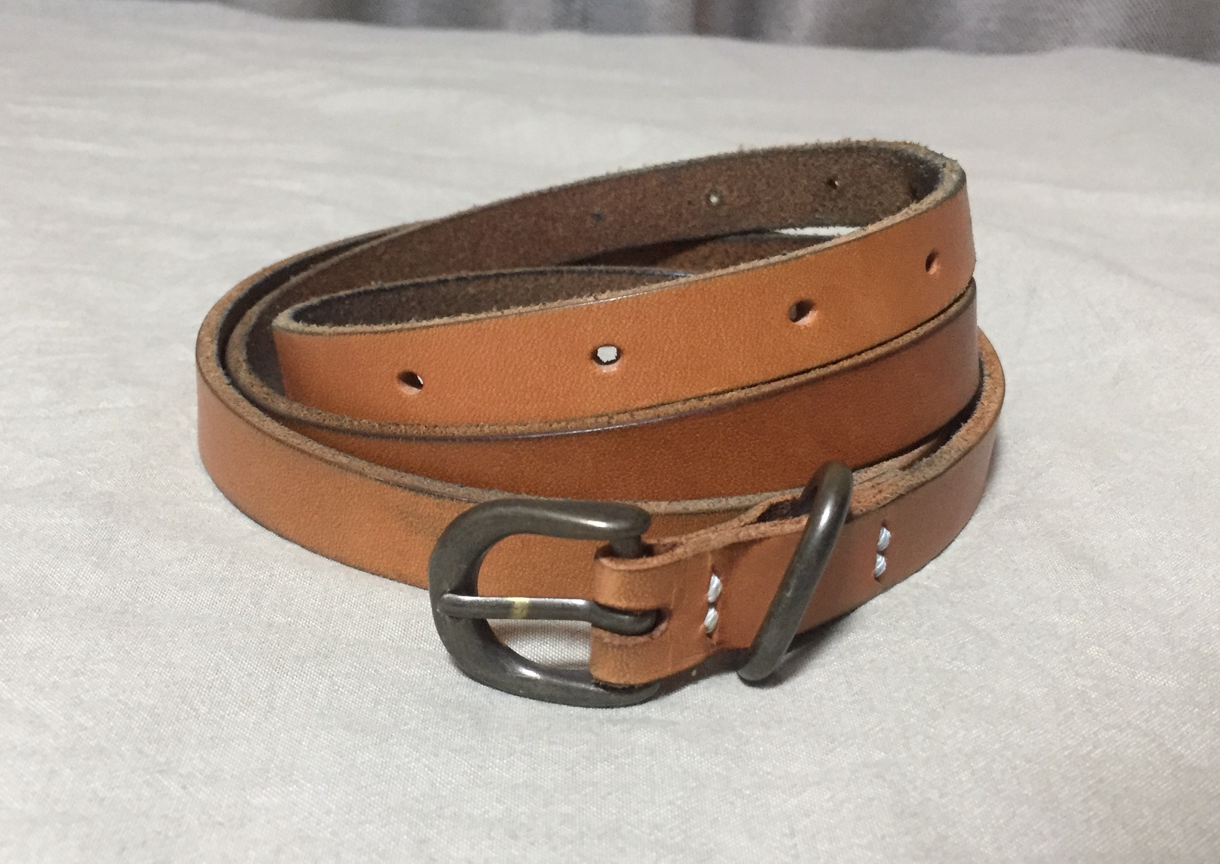 9ヶ月使ったエンダースキーマのベルト(tail belt)の経年変化