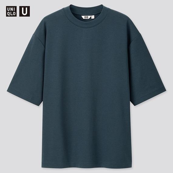 ⑤:エアリズムコットンオーバーサイズTシャツ
