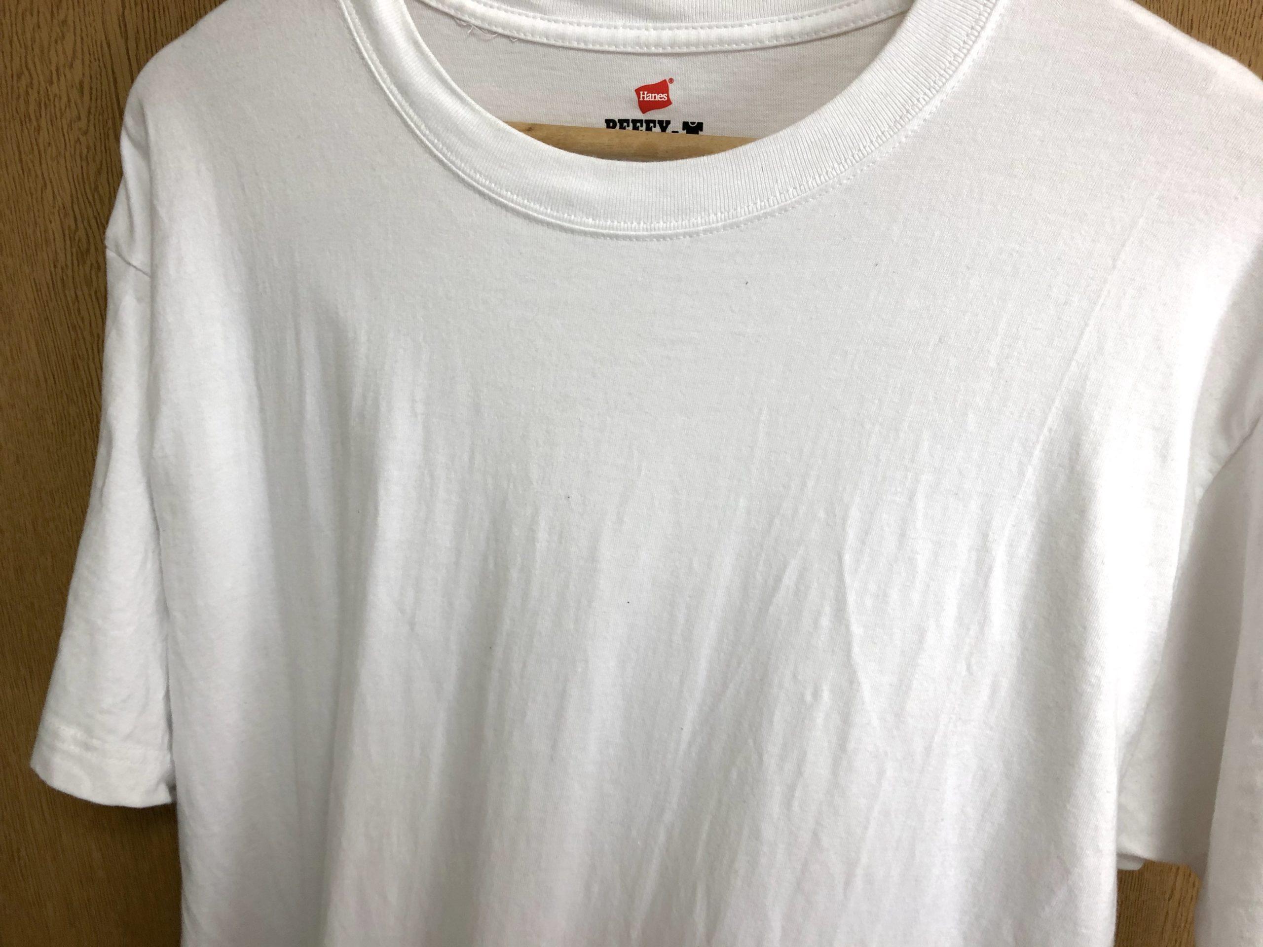 ヘインズのビーフィーTシャツの質感の変化