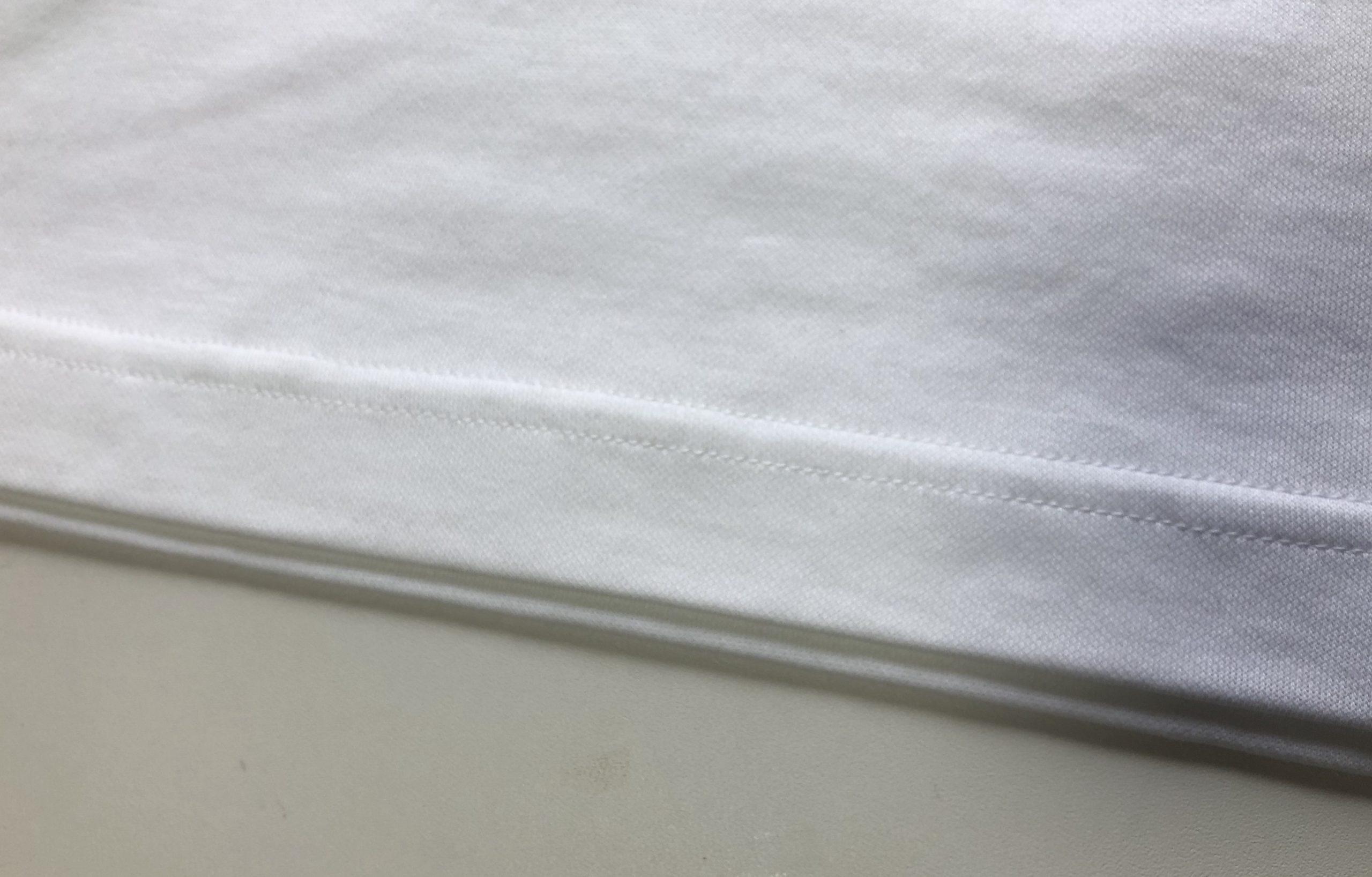 ユニクロUのエアリズムコットンオーバーサイズTシャツの縫製