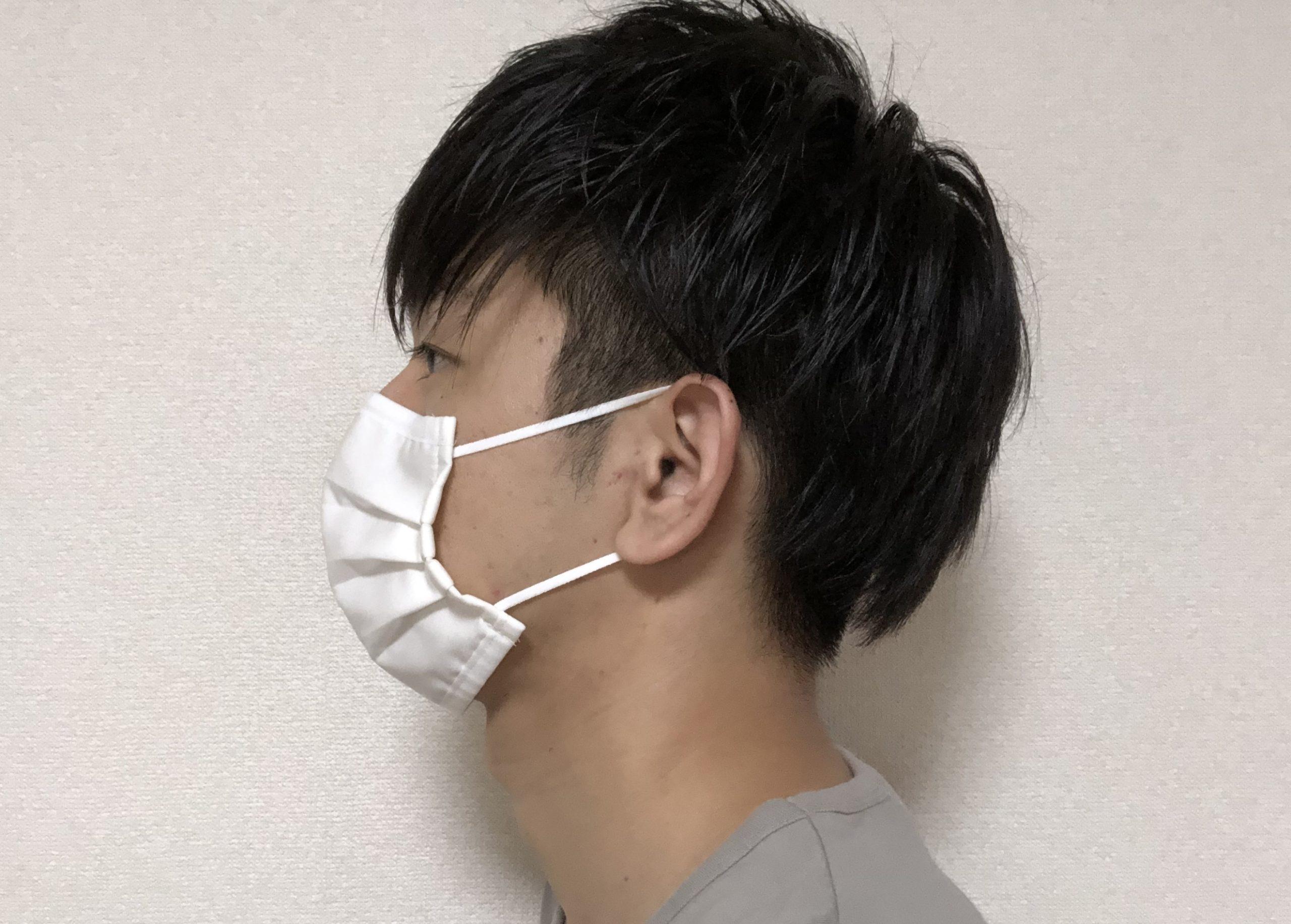 無印良品の布マスクのサイズ感