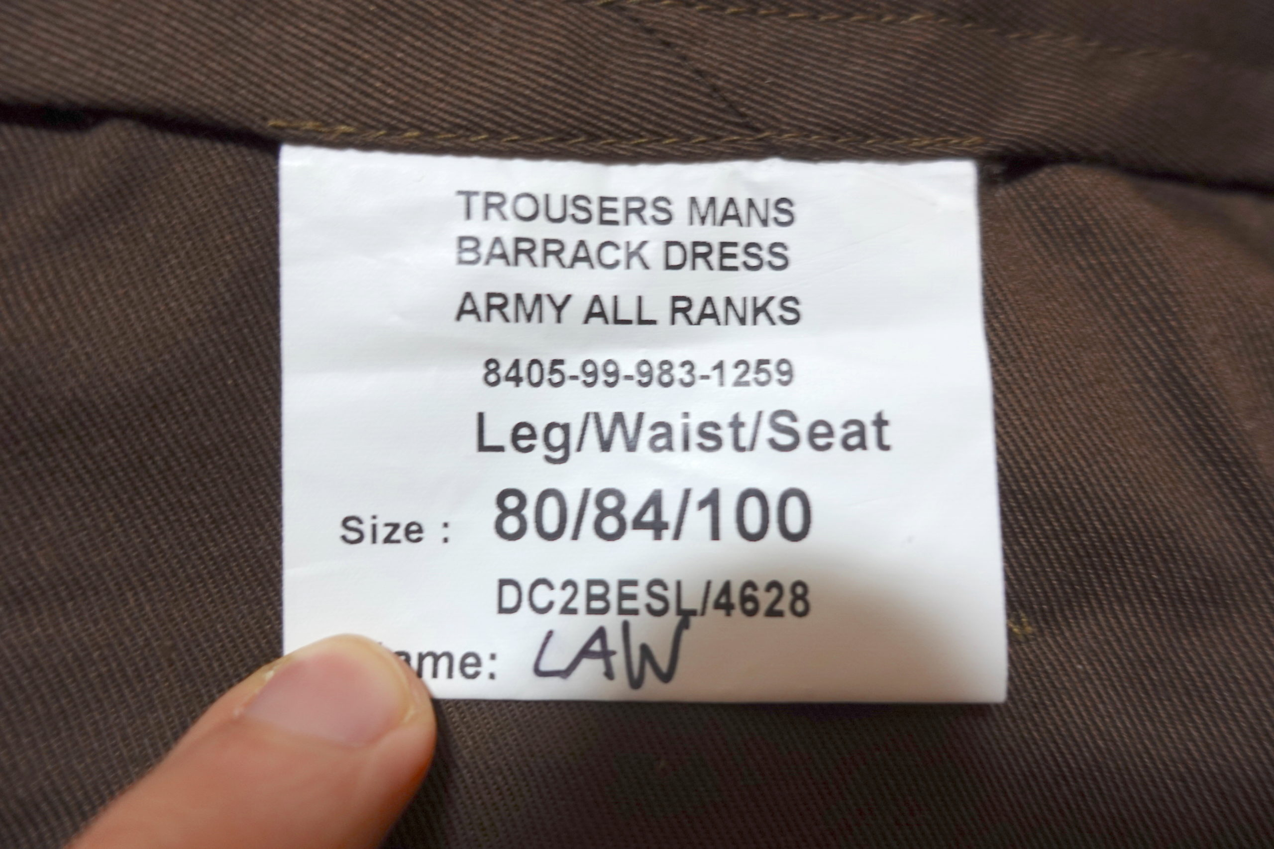 【サイズ感】イギリス軍・No2ドレスパンツのサイズ選び